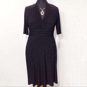 Evan Picone 3/4 Sleeve Black Dress